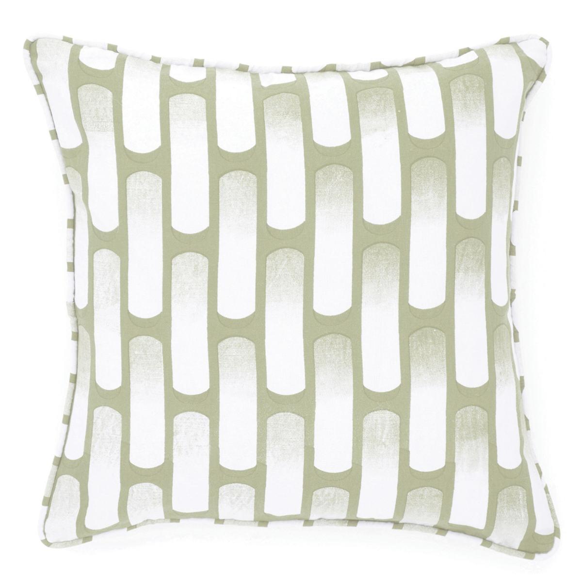 Retro Green Decorative Pillow