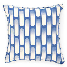Retro Indigo Decorative Pillow