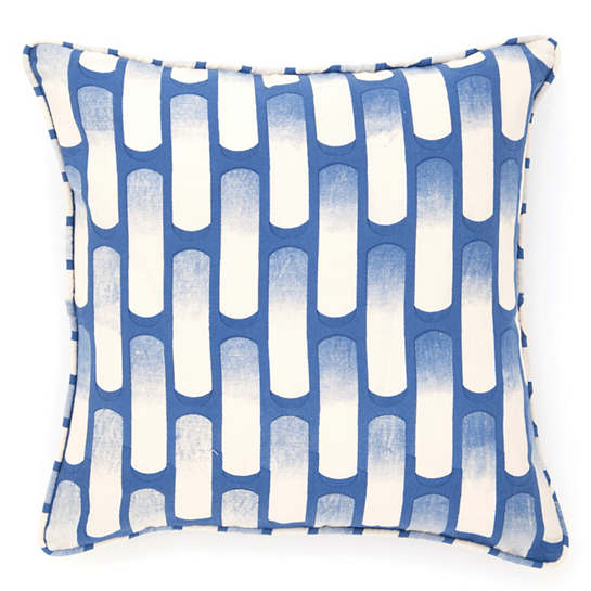 Retro Indigo Decorative Pillow