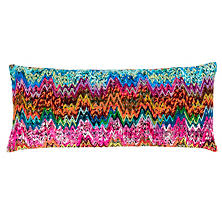 Retro Zag Embroidered Decorative Pillow