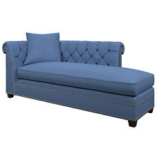 Estate Linen French Blue Richmond Right Facing Chaise
