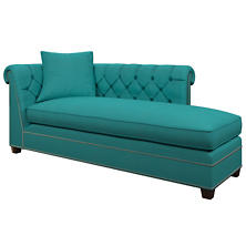 Estate Linen Turquoise Richmond Right Facing Chaise