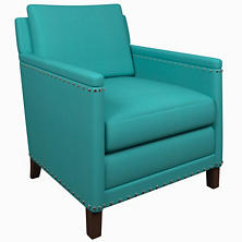 Estate Linen Turquoise Ridgefield Chair