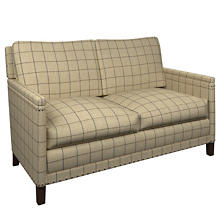 Chatham Tattersall Navy/Brown Ridgefield Loveseat