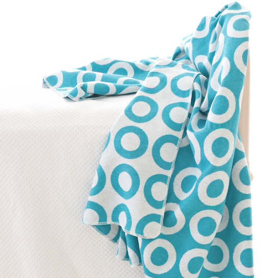 Ring Aqua/White Throw