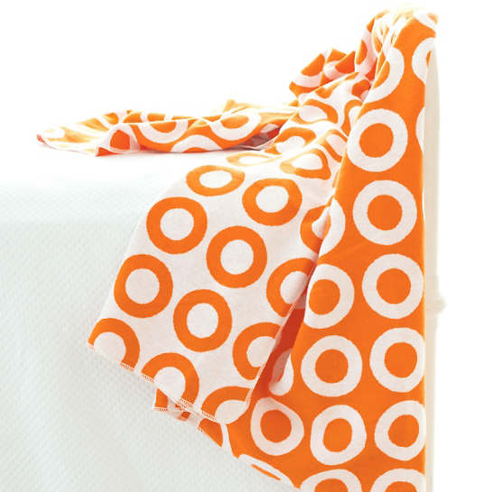 Ring Orange/White Throw