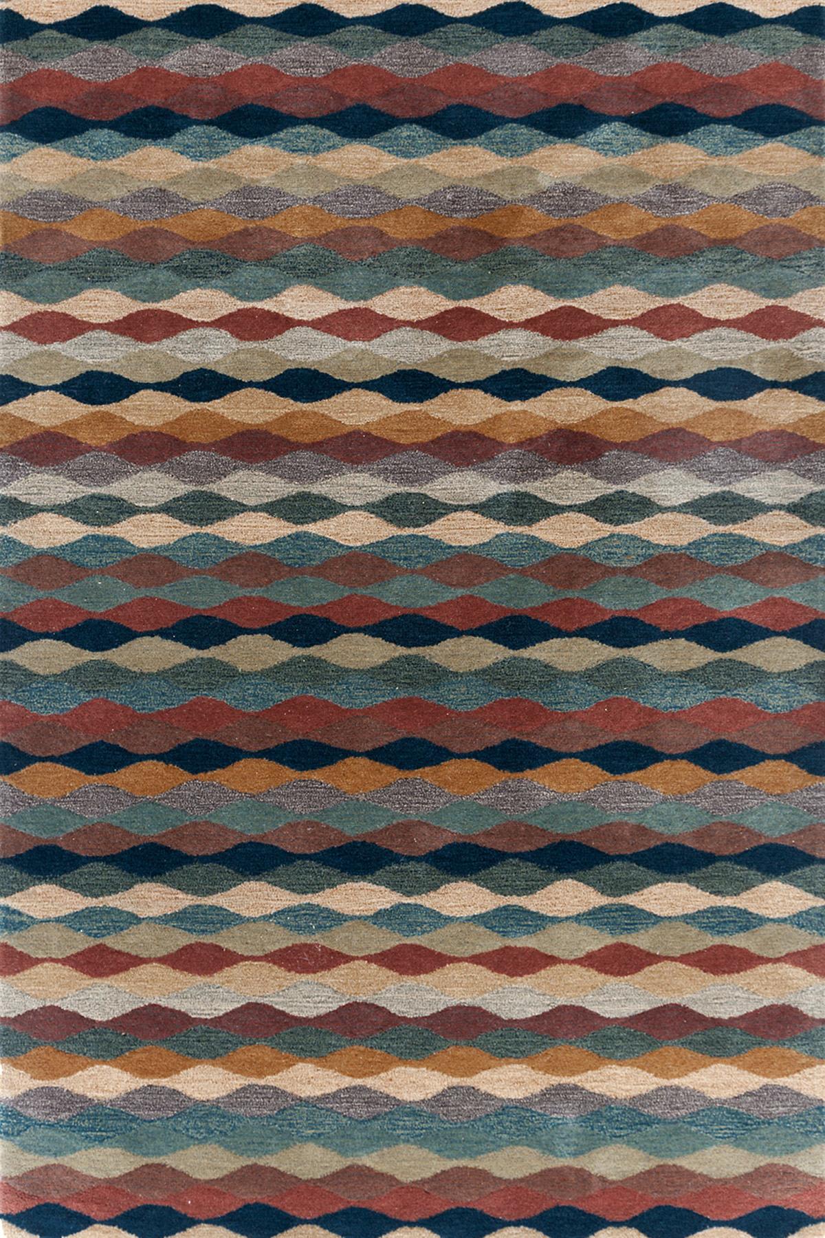 Ripple Cinnamon Wool Tufted Rug