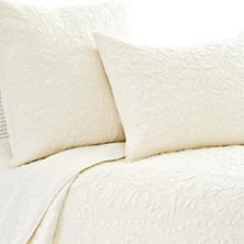 Rosary Ivory Quilted Sham