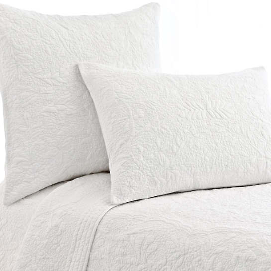 Rosary White Quilted Sham