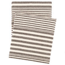 Rugby Stripe Charcoal Throw