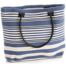 Rugby Stripe Denim Indoor/Outdoor Tote Bag