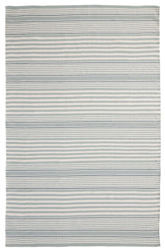 Rugby Stripe Light Blue Indoor/Outdoor Rug | Dash & Albert