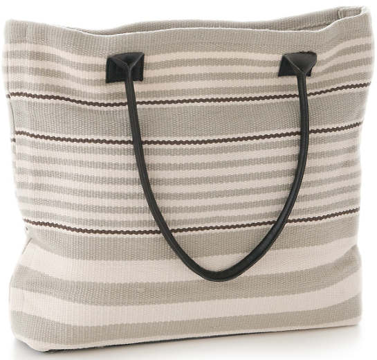 Rugby Stripe Platinum Indoor/Outdoor Tote Bag
