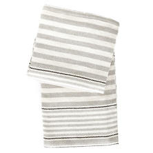 Rugby Stripe Platinum Woven Cotton Throw
