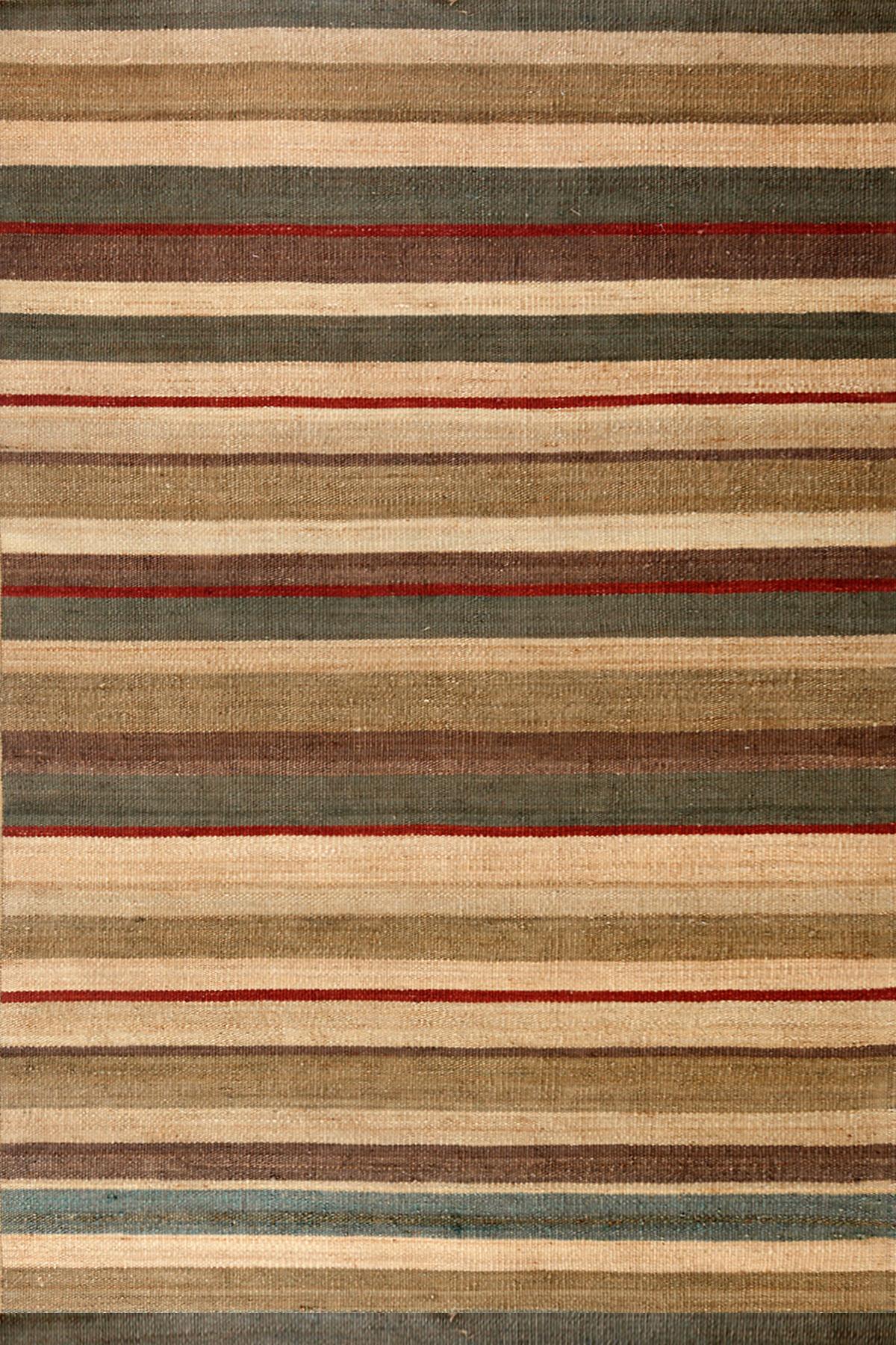 Striped Jute Rug Home Decor
