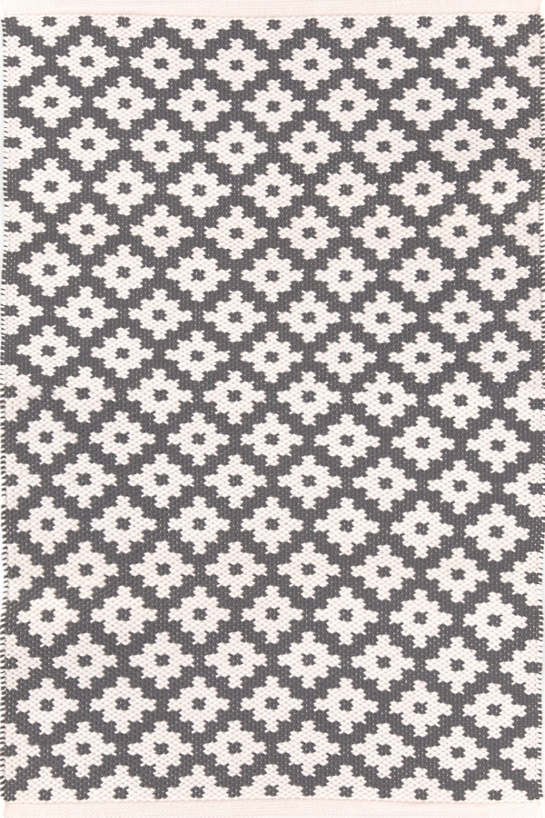 Nice Samode Graphite/Ivory Indoor/Outdoor Rug