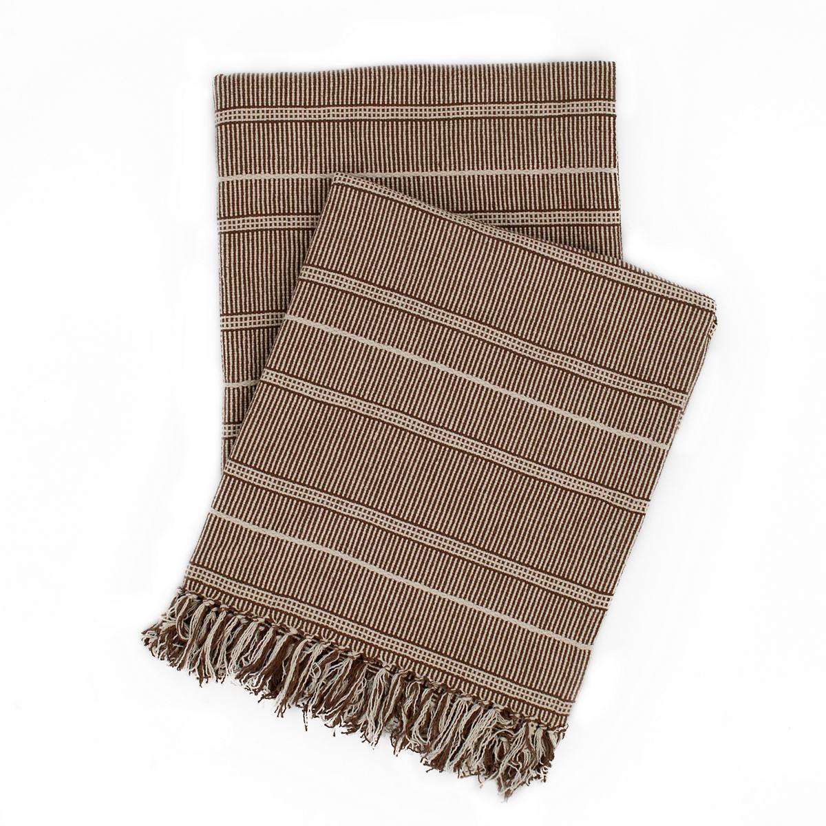 Samson Oak Woven Cotton Throw