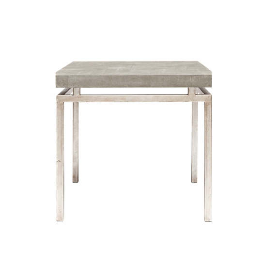 Sand Faux Shagreen Benjamin Side Table