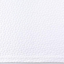 Sassolino White Matelassé Coverlet