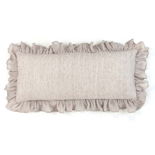 Savannah Linen Chambray Dove Grey Decorative Pillow