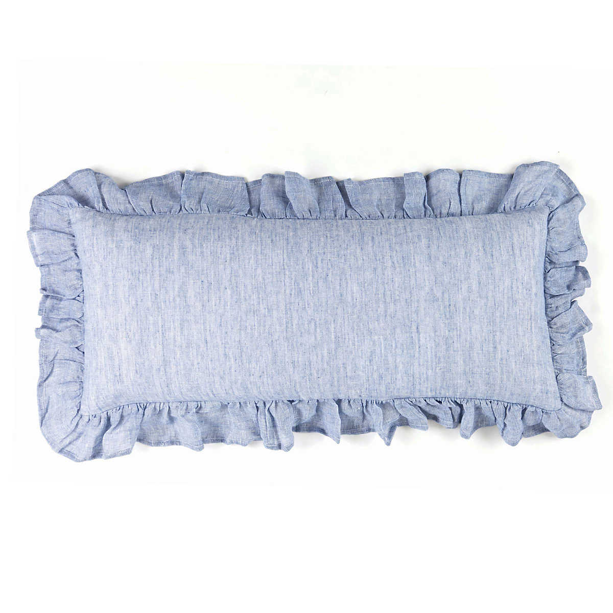 Savannah Linen Chambray French Blue Decorative Pillow Pine Cone Hill