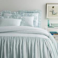 Savannah Linen Chambray Sky Bedspread