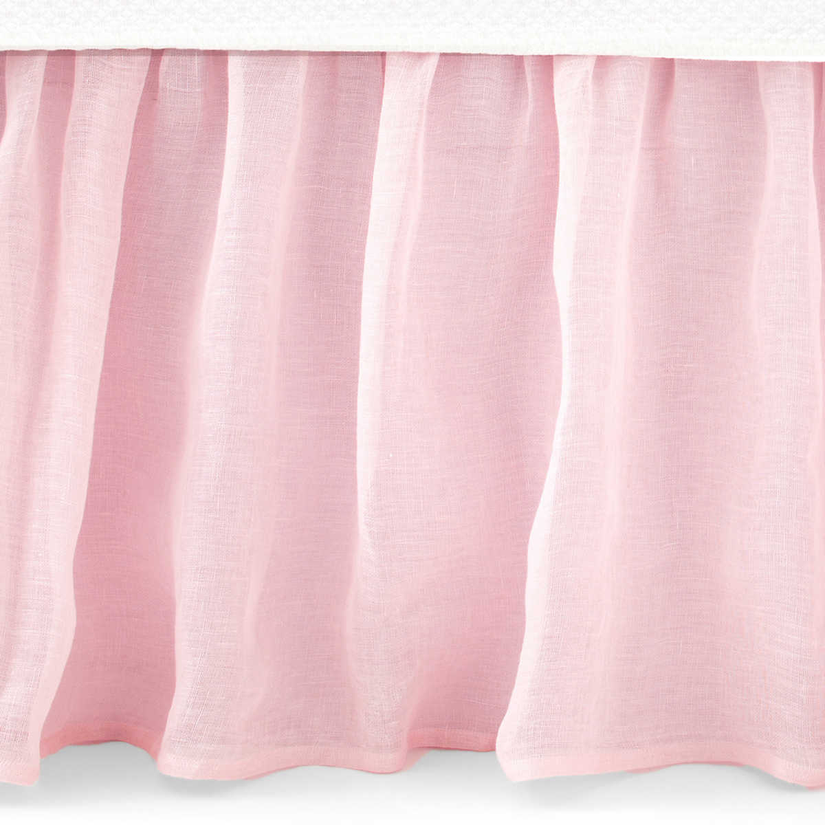 Savannah Linen Gauze Blush Bed Skirt Pine Cone Hill