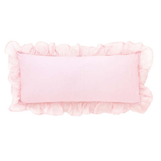 Savannah Linen Gauze Blush Decorative Pillow