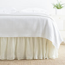 Savannah Linen Gauze Ivory Bed Skirt