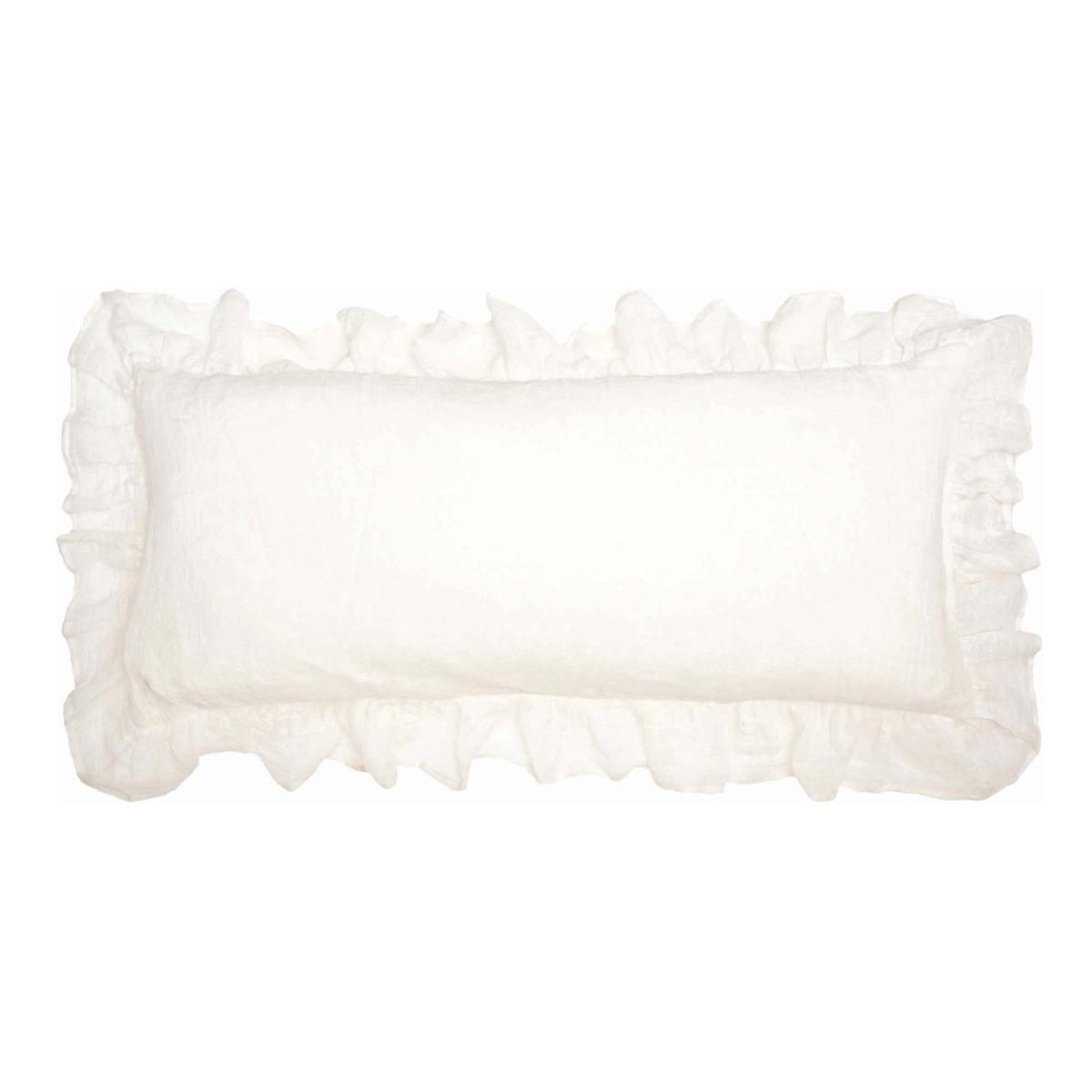 Savannah Linen Gauze Ivory Decorative Pillow