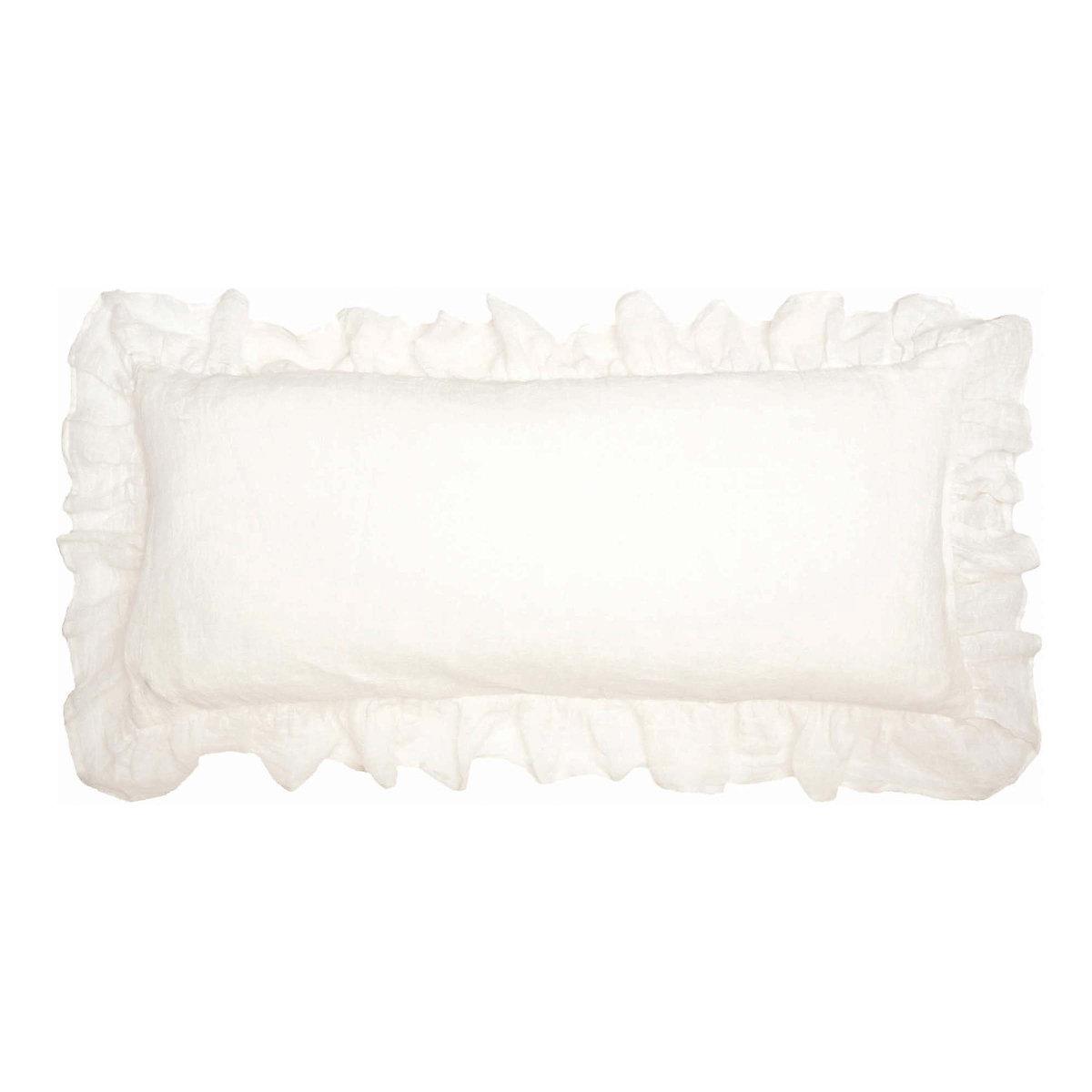 Decorative Pillow Ivory : Savannah Linen Gauze Ivory Decorative Pillow Pine Cone Hill