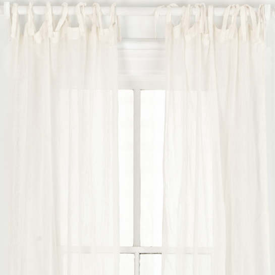 Savannah Linen Gauze Ivory Window Panel