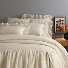 Savannah Linen Gauze Tea Stain Bedspread