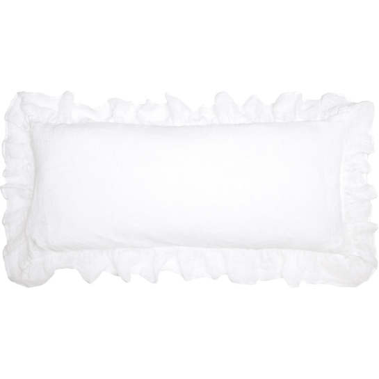 Savannah Linen Gauze White Decorative Pillow
