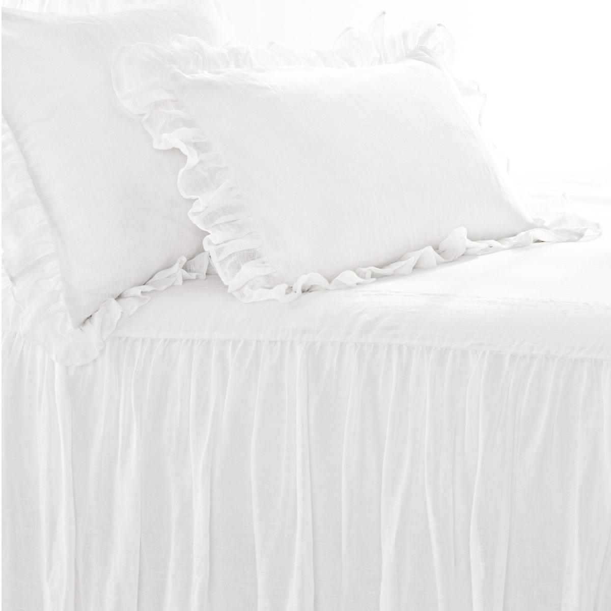 Savannah Linen Gauze White Sham