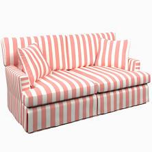 Alex Coral Saybrook 2 Seater Slipcovered Sofa