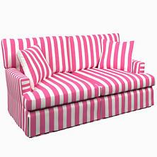Alex Fuchsia Saybrook 2 Seater Slipcovered Sofa