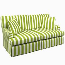 Alex Green Saybrook 2 Seater Slipcovered Sofa