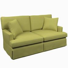 Estate Linen Green Saybrook 2 Seater Slipcovered Sofa