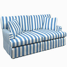 Alex French Blue Saybrook 2 Seater Upholstered Sofa