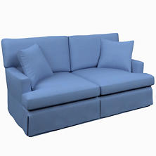 Estate Linen French Blue Saybrook 2 Seater Upholstered Sofa