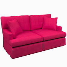Estate Linen Fuchsia Saybrook 2 Seater Upholstered Sofa