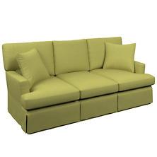 Estate Linen Green Saybrook 3 Seater Slipcovered Sofa