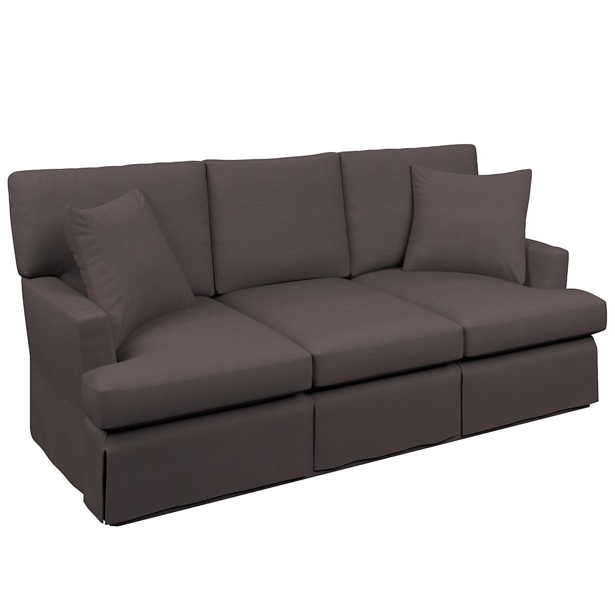 Estate linen shale saybrook 3 seater upholstered sofa for Shale sofa bed