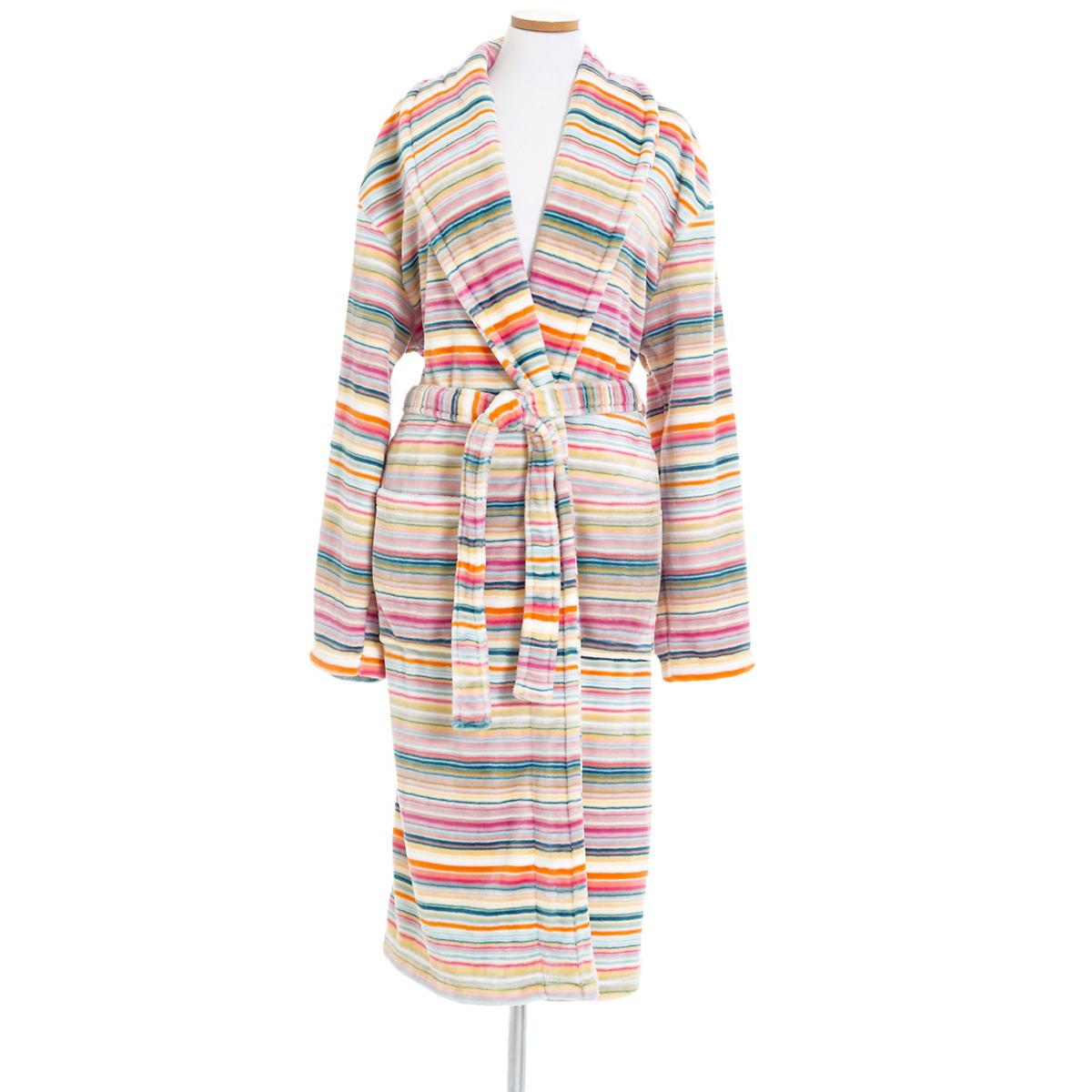 Selke Fleece Blossom Stripe Robe