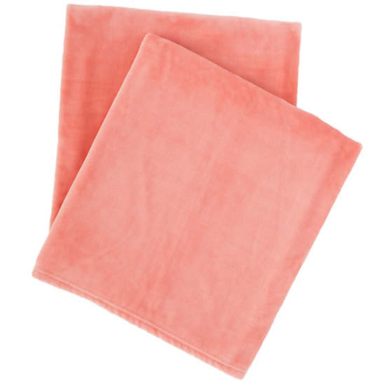 Selke Fleece Coral Throw