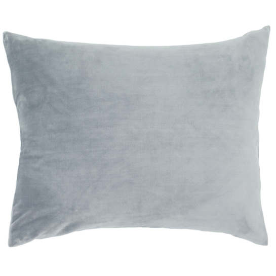 selke fleece dusty blue decorative pillow