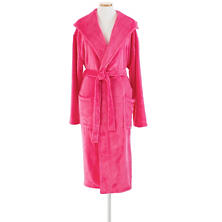 Selke Fleece Fuchsia Hooded Robe