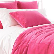 Selke Fleece Fuchsia Blanket