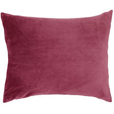 Selke Fleece Garnet Decorative Pillow